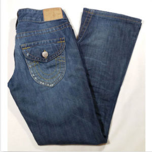 TRUE RELIGION Women Jeans Boot Cut Low Rise 0892E1